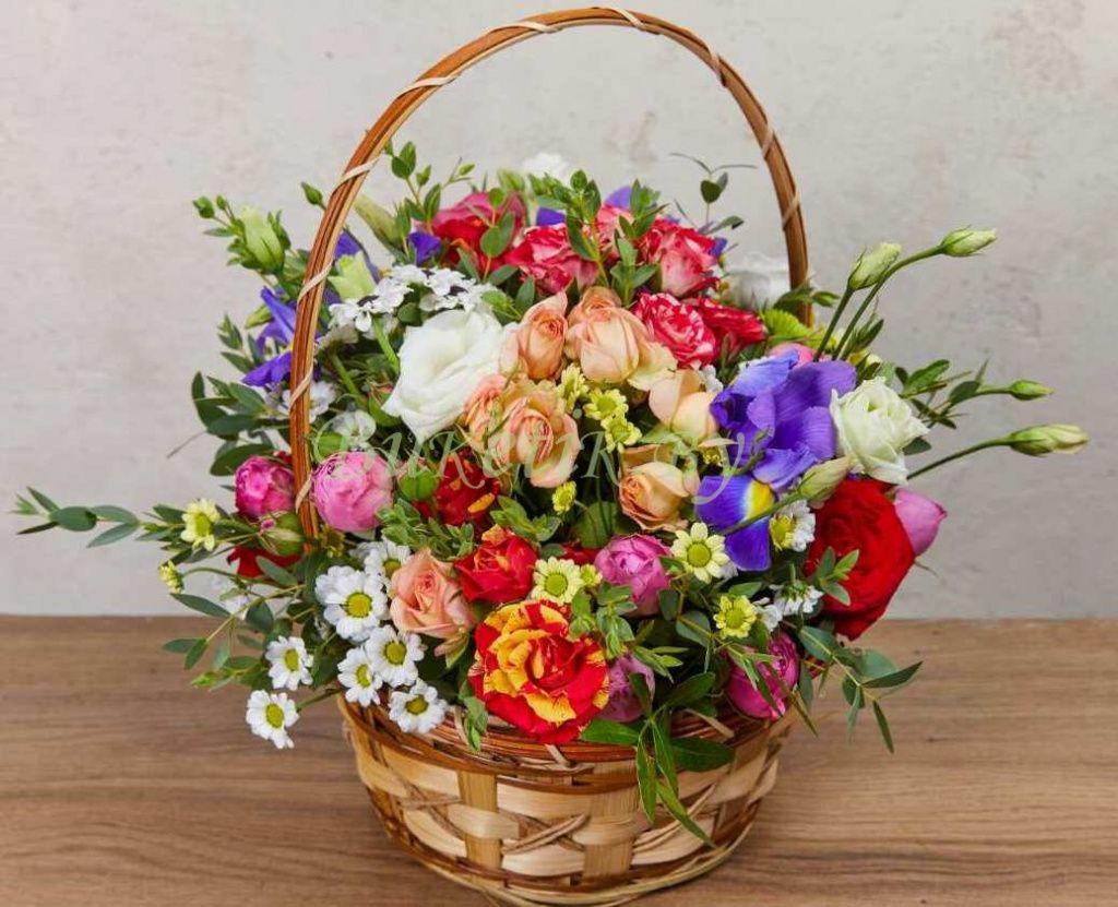 Корзины цветов картинки красивые с днем рождения